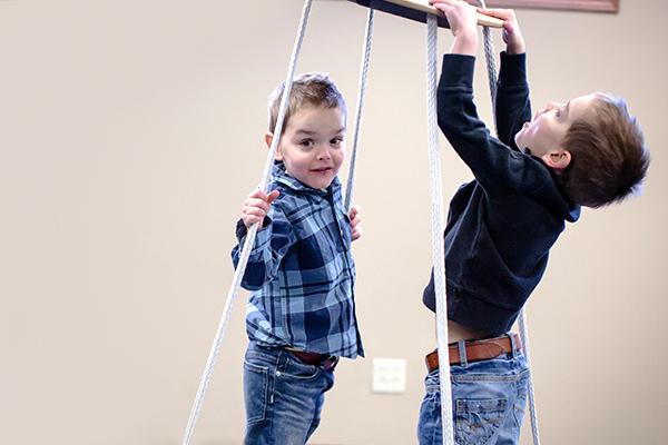 Kids Playing on Swing