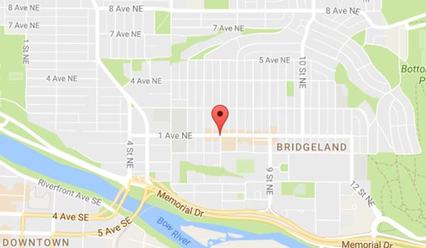 Calgary Location Map