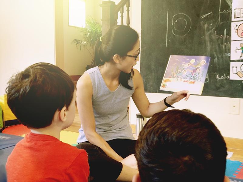 Storytelling at summer Camp