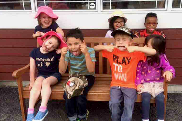 Kids at Summer Camp Making Faces